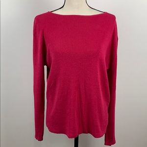 Chico's Pink Long Sleeve Sweater Size 3 (XL/16)